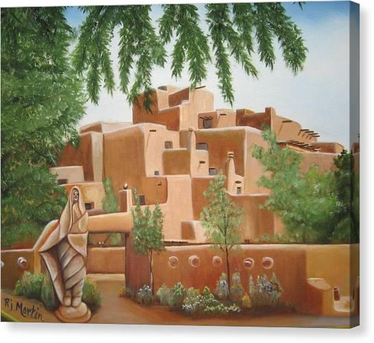 Santa Fe Garden Canvas Print