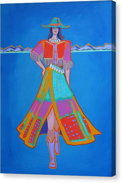 Santa Fe Girl  Canvas Print