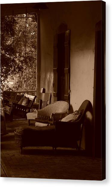 Santa Fe Porch Canvas Print