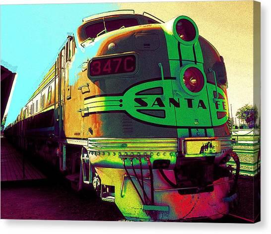 Santa Fe Railroad New Mexico Canvas Print