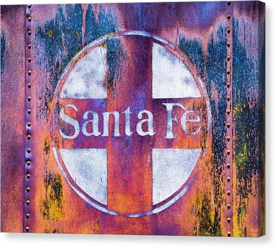 Canvas Print featuring the photograph Santa Fe Rr by Lou Novick