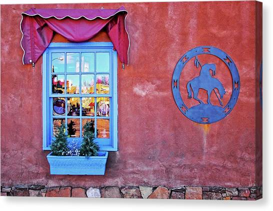 Santa Fe Street Reflection Canvas Print