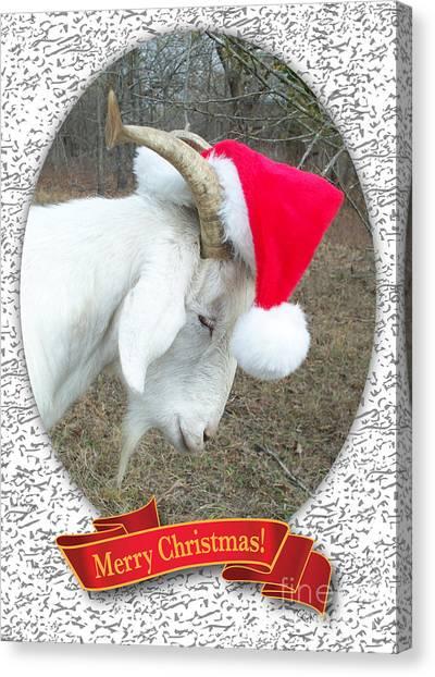 Santa Goat Canvas Print