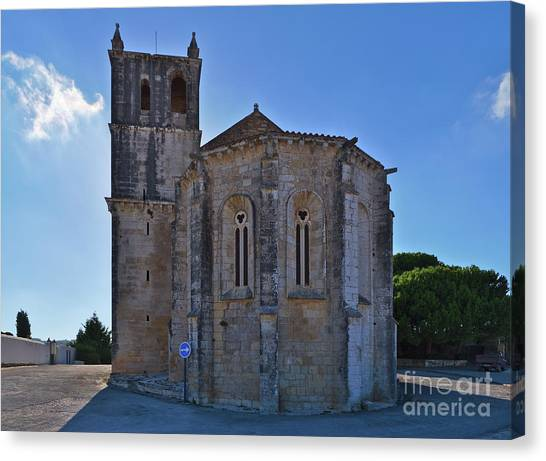 Santa Maria Do Carmo Church In Lourinha. Portugal Canvas Print