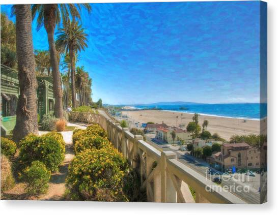 Santa Monica Ca Palisades Park Bluffs Gold Coast Luxury Houses Canvas Print