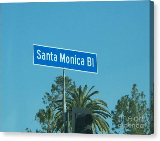 Santa Monica Canvas Print by Sacred  Muse