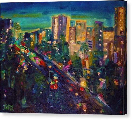 Santa Monica Glow Canvas Print by Irit Bourla