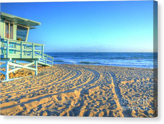 Lifeguard Canvas Print - Santa Monica Lifeguard by Kelly Wade