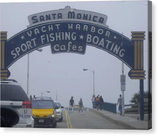 Santa Monica Pier Canvas Print - Santa Monica Pier by Nicola De Rossi
