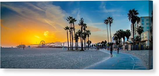 City Sunrises Canvas Print - Santa Monica Sunset by Az Jackson