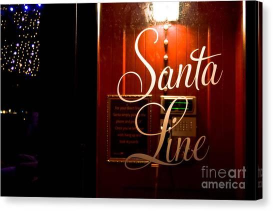 Santa Telephone Line Direct Canvas Print
