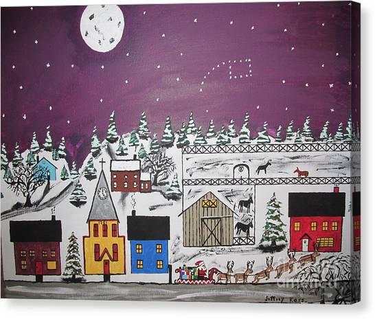 Canvas Print - Santa Under The Little Dipper by Jeffrey Koss