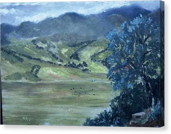 Santa Yanez Valley       First Day Of Spring Canvas Print by Bryan Alexander