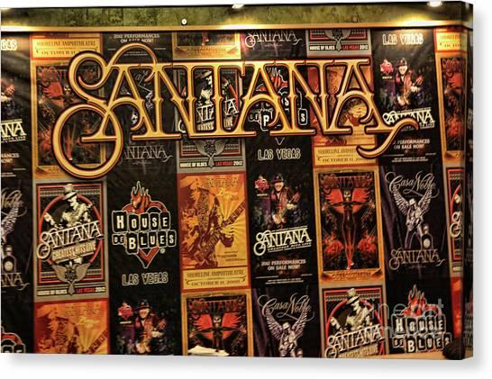 Santana House Of Blues Canvas Print