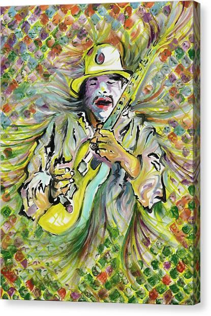 Santana's Sacred Fire Canvas Print