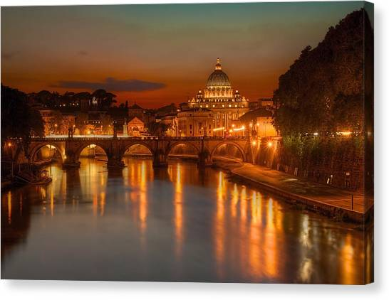 Sant'angelo Bridge Canvas Print
