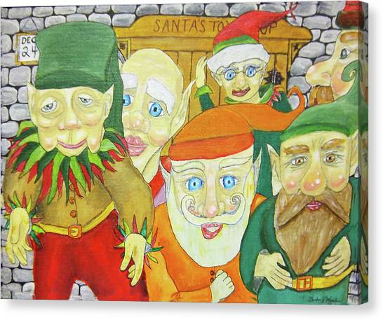 Santas Elves Canvas Print by Gordon Wendling
