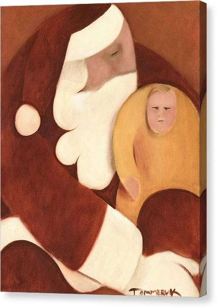 Santa Claus Canvas Print - Santa's Lap Art Print by Tommervik