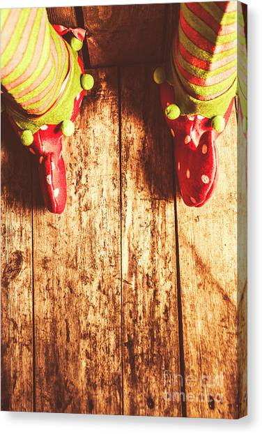 Feet Canvas Print - Santas Little Helper by Jorgo Photography - Wall Art Gallery