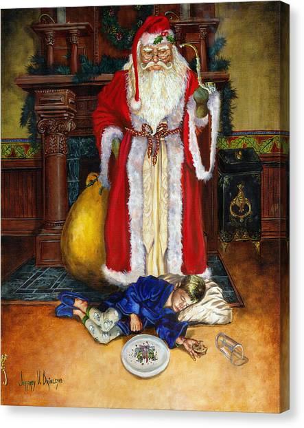 Santas Littlest Helper Canvas Print