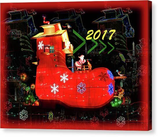 Santa's Magic Stocking Canvas Print