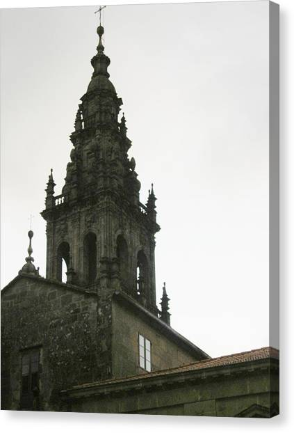 Santiago De Compostela Steeple Canvas Print by Halle Treanor