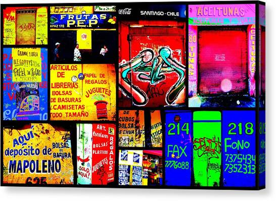 Santiago Funky Walls  Canvas Print