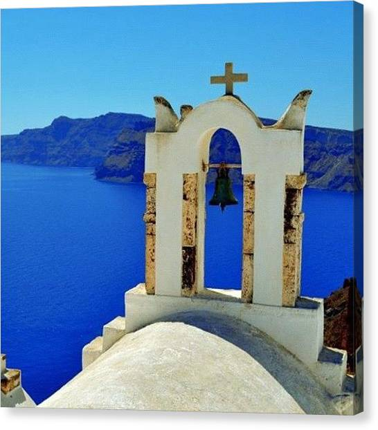 Greece Canvas Print - Santorini 7 by Carlos Macia Perez