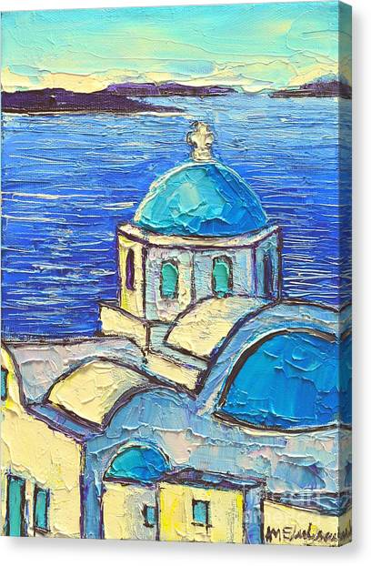 Santorini  Blue Canvas Print