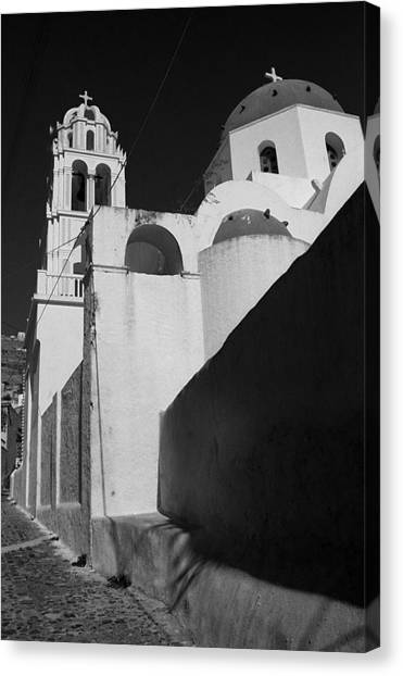 Santorini Church Canvas Print