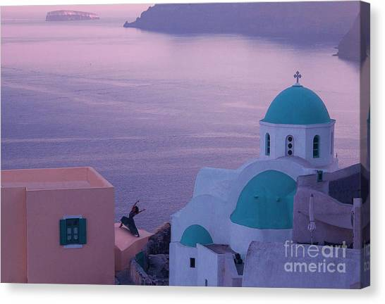 Santorini Dancer Canvas Print by Jim Wright