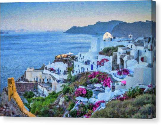 Santorini Greece Dwp416136  Canvas Print