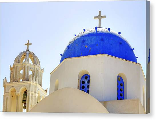 Greece Canvas Print - Santorini by Joana Kruse