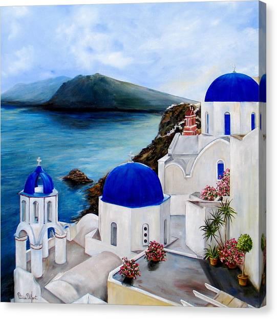 Santorini Canvas Print - Santorini by Patricia DeHart