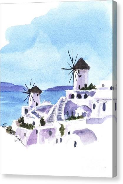 Santorini Canvas Print