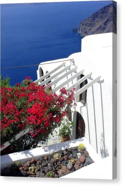 Santorini Villa  Canvas Print
