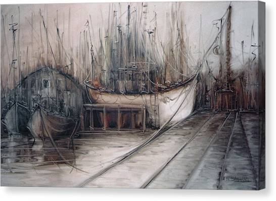 Santos Harbour Canvas Print by Fatima Stamato