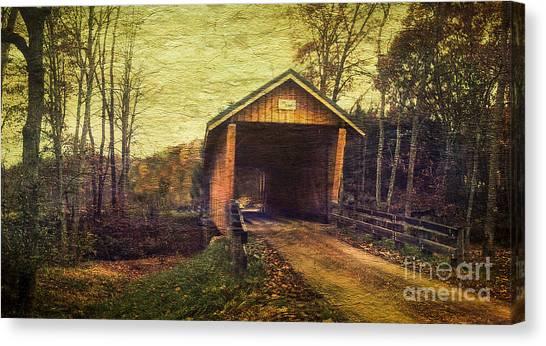 Santoy Covered Bridge #35-58-38 Morgan County Ohio Canvas Print by Robert Gardner