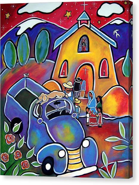 Santuario De Milagro  - Chapel Of Miracles Canvas Print