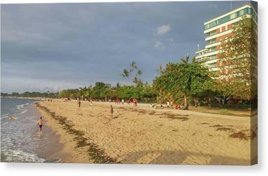 White Sand Canvas Print - Sanur Beach, Bali by Maria Marganingsih