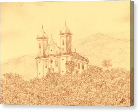 Sao Francisco De Paula Church Canvas Print by Enaile D Siffert