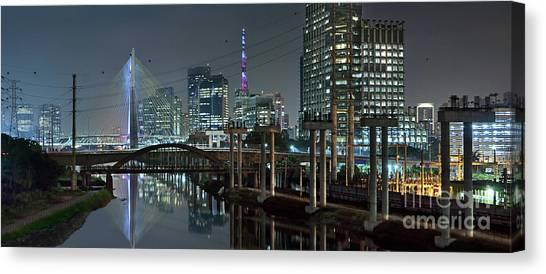 Sao Paulo Bridges - 3 Generations Together Canvas Print