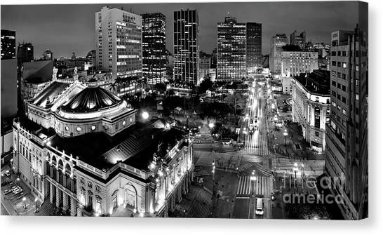 Sao Paulo Downtown - Viaduto Do Cha And Around Canvas Print