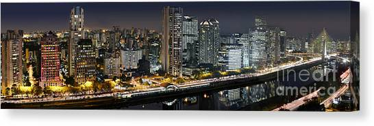 Sao Paulo Iconic Skyline - Cable-stayed Bridge  Canvas Print