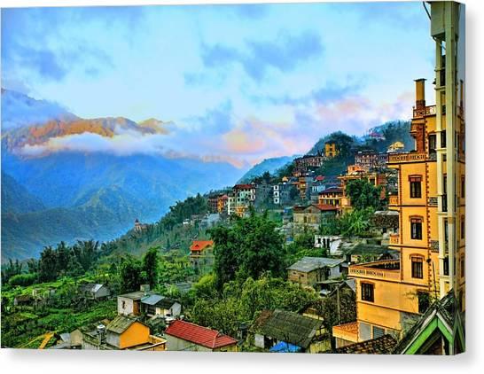 Sapa Village Northern Vietnam  Canvas Print