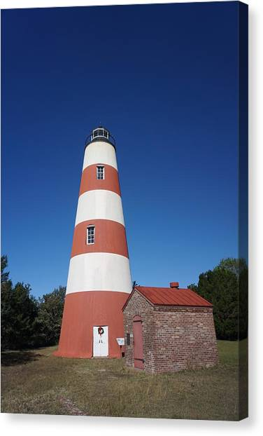 Canvas Print - Sapelo Island Lighthouse by Red Cross