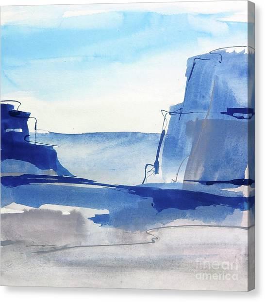 Canvas Print - Sapphire Cliffs I by Chris Paschke