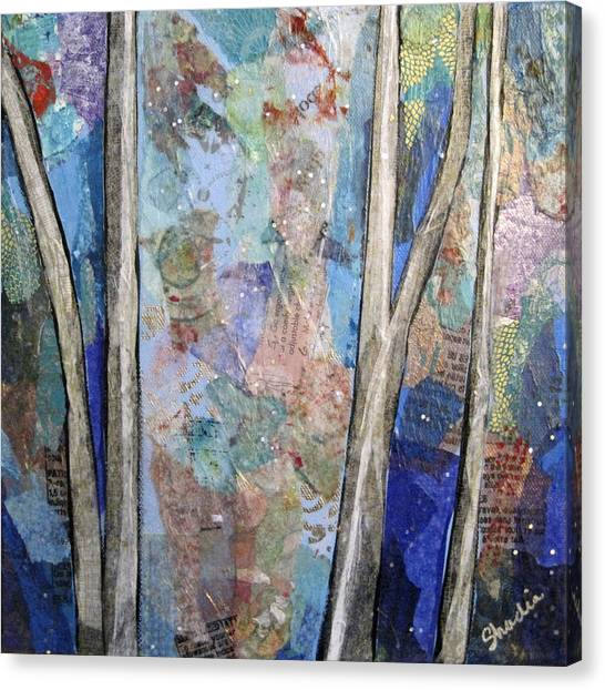 Barren Canvas Print - Sapphire Forest II by Shadia Derbyshire