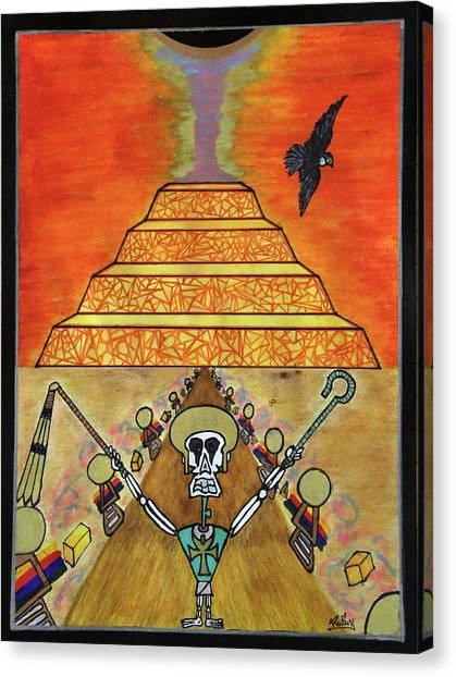 Saqqara Under Cooonstructiooon Canvas Print