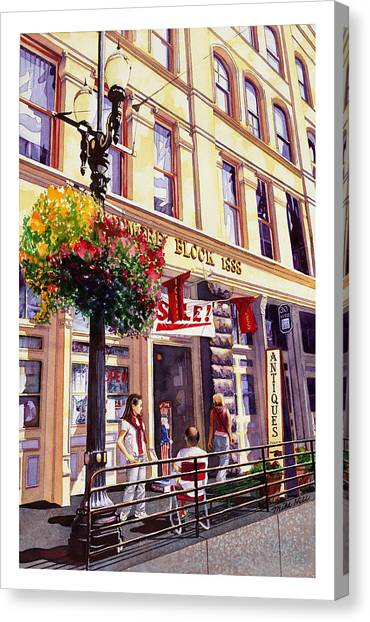 Light Rail Canvas Print - Sara In Old Town by Mike Hill